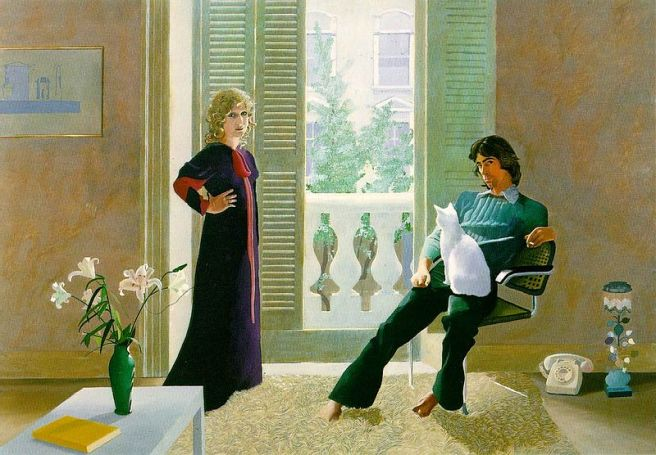 """Mr and Mrs Clark and Percy"", David Hockney"